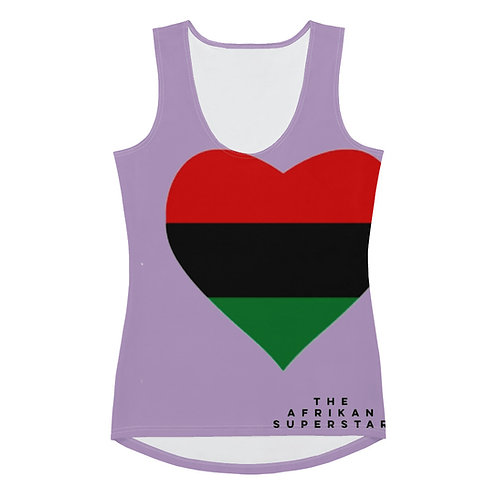Purple Pan African Love Sublimation Cut & Sew Tank Top