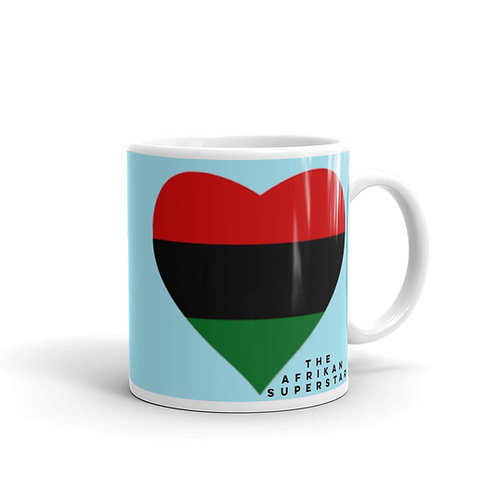 Blue Pan African Love Mug