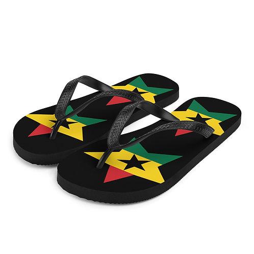 Black Ghana All Star Flip-Flops