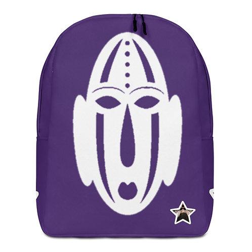 Purple Ivory Mask Minimalist Backpack