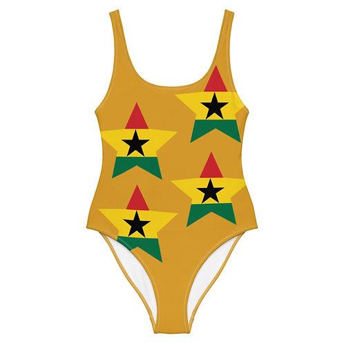 Mustard Ghana All Star One-Piece Swimsuit