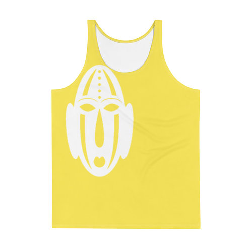 Men's Yellow Mask Tank Top