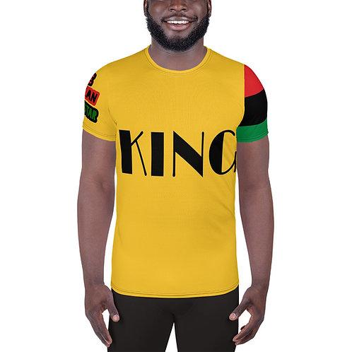 "Yellow ""King"" Men's Athletic T-shirt"