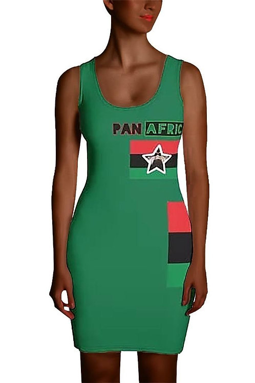 Green Proud Pan African Sublimation Cut & Sew Dress