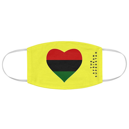 Yellow Pan African Love Fabric Face Mask