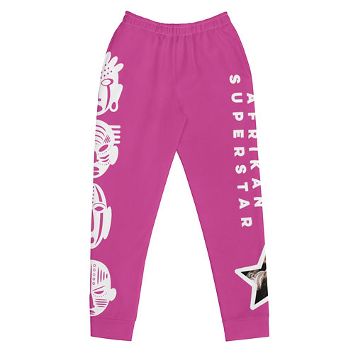 Hot Pink Quad Mask Women's Joggers