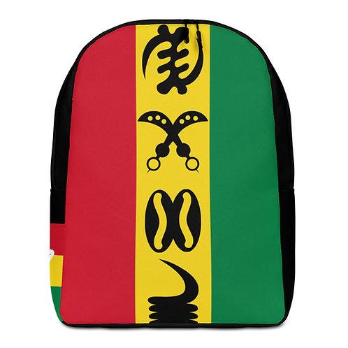 Vertical Adinkra Minimalist Backpack