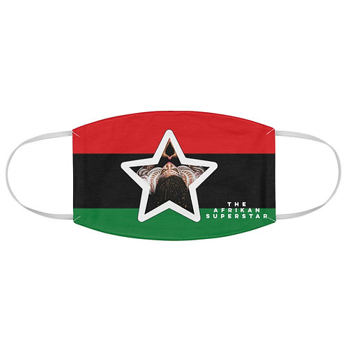 Afrikansuperstar star logo Pan African Fabric Face Mask