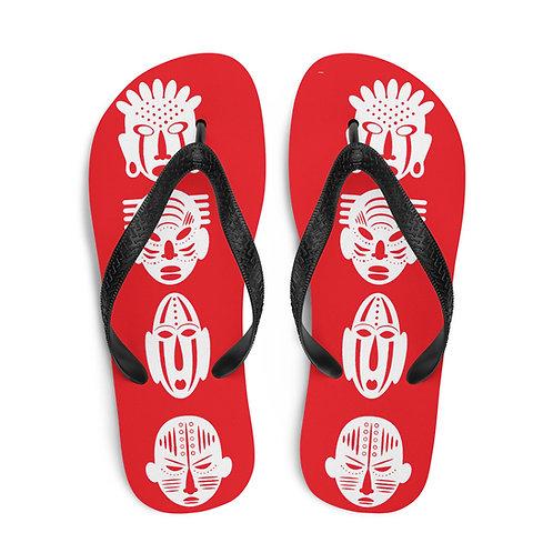 Red Quad Mask Flip-Flops