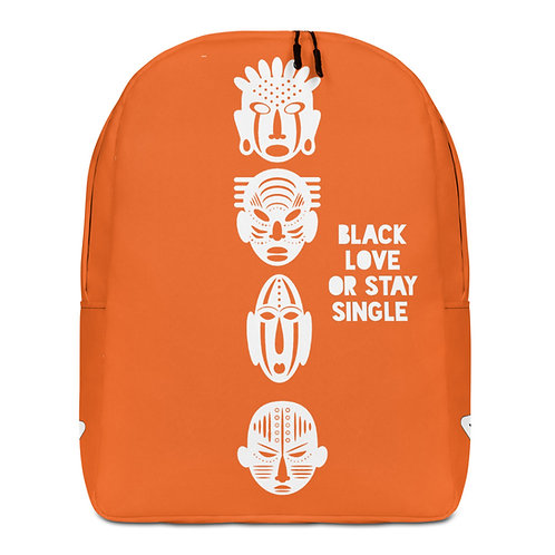 "Tangerine ""Black Love or Stay Single""Minimalist Backpack"