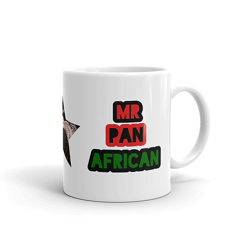 White Mr. Pan African Mug