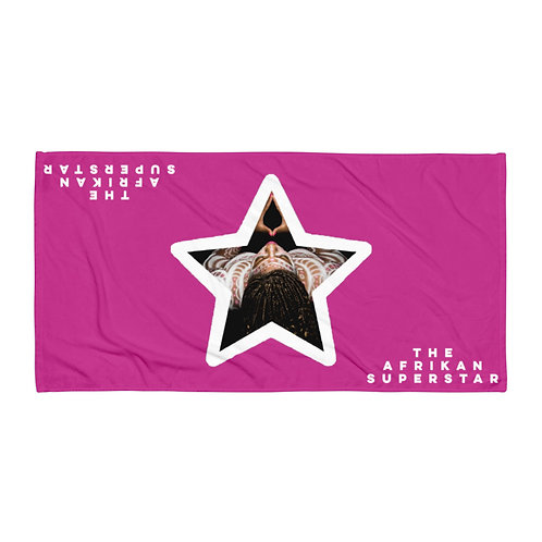 Pink Star Logo Towel