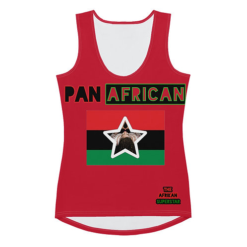Red Proud Pan African Sublimation Cut & Sew Tank Top