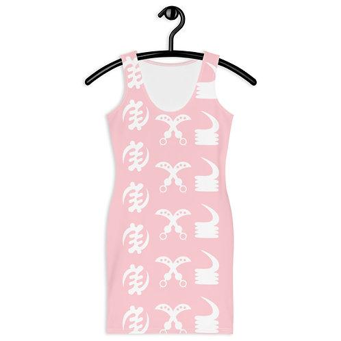 Afrikansuperstar X Ghana Pink Adinkra Dress
