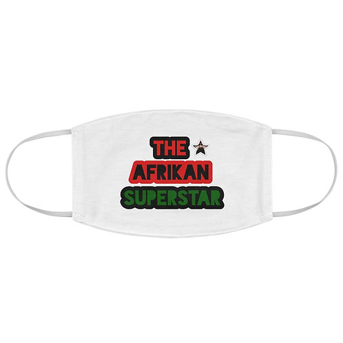 White Afrikansuperstar Fabric Face Mask