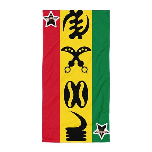 Ghanaian Quad Adinkra Towel