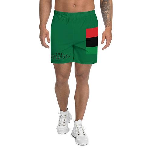 Green Pan African Men's Athletic Long Shorts