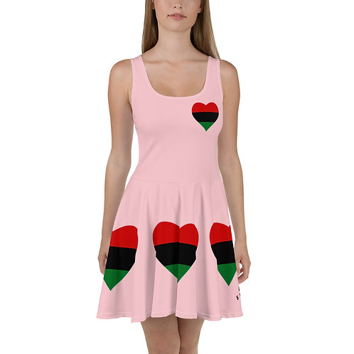 Pink Pan African Love Skater Dress