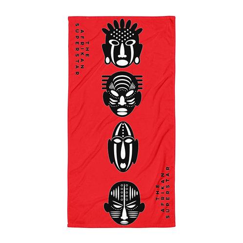 Red Quad Mask Towel