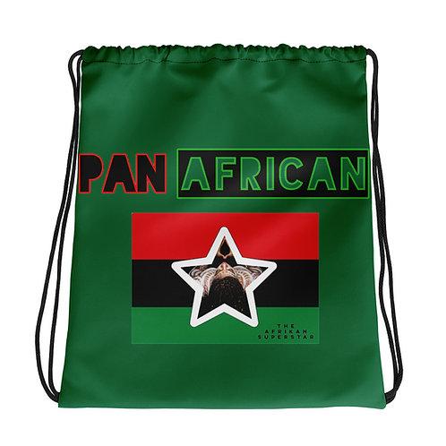 Green Proud Pan African Drawstring bag