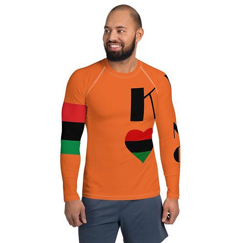 Orange Pan African King Men's Rash Guard