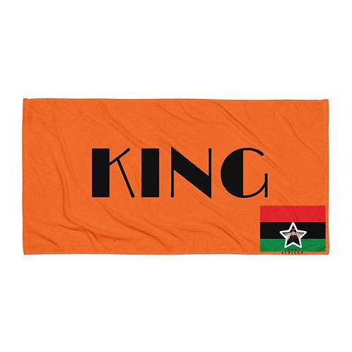 Orange Pan African King Towel