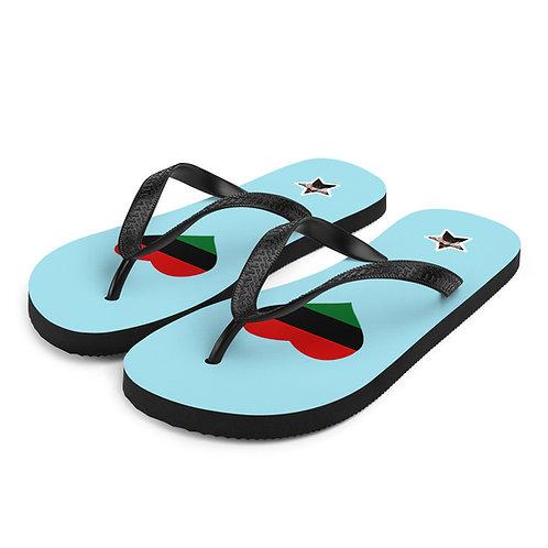 Blue Love Pan African Flip-Flops
