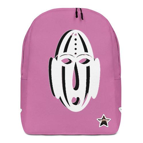 Pink Ivory Mask Minimalist Backpack