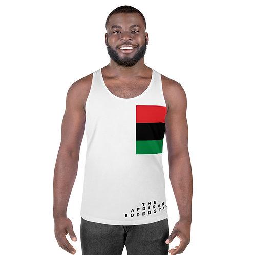 Men's White Pan African Unisex Tank Top