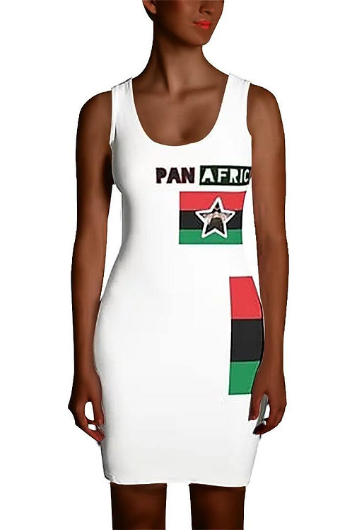 White Proud Pan African Sublimation Cut & Sew Dress