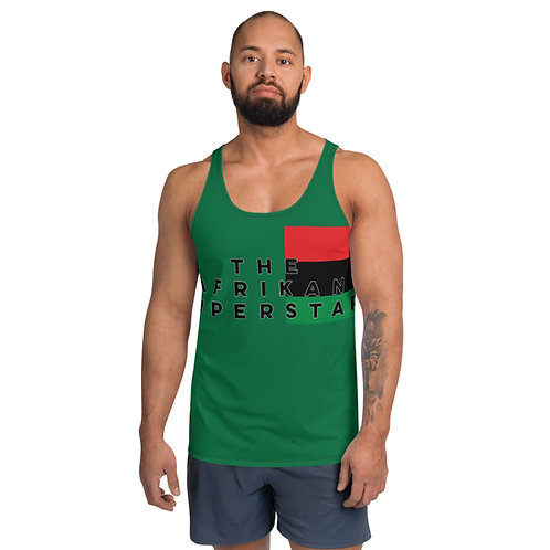 Men's Green Afrikansuperstar Pan African Unisex Tank Top
