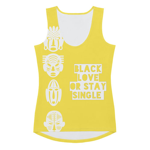 Yellow Quad Mask Sublimation Cut & Sew Tank Top