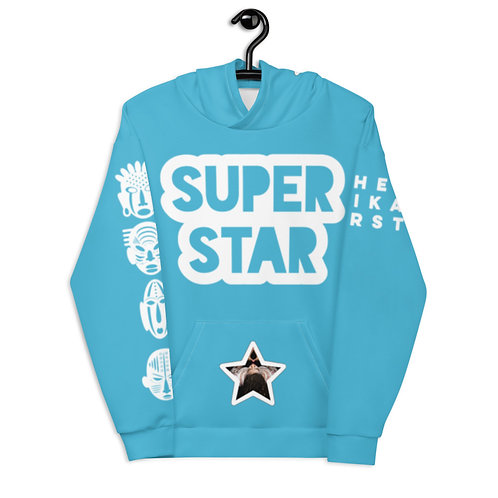Blue Quad Superstar Pan African Unisex Hoodie
