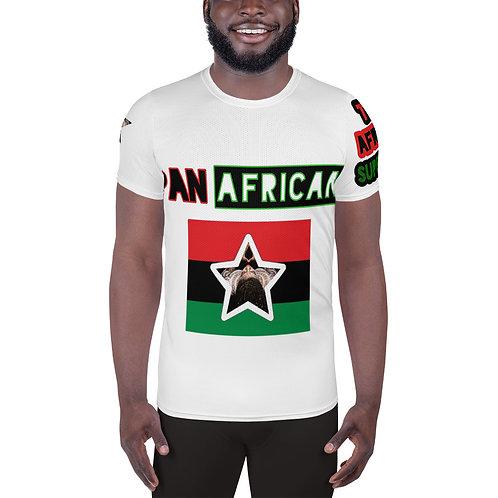 White All-Over Print Men's Athletic T-shirt