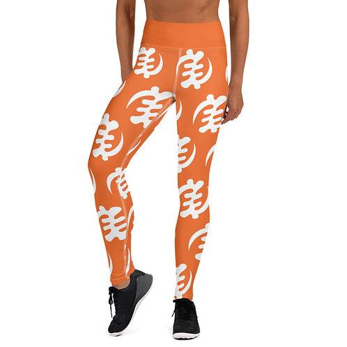 Afrikansuperstar X Ghana Orange Infinite Gye Nyame Yoga Leggings