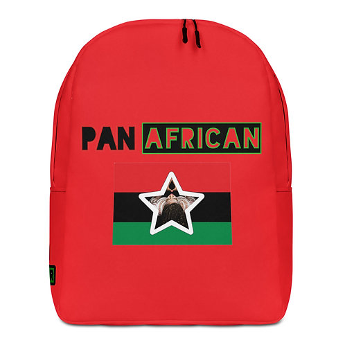 Red Proud Pan African Minimalist Backpack