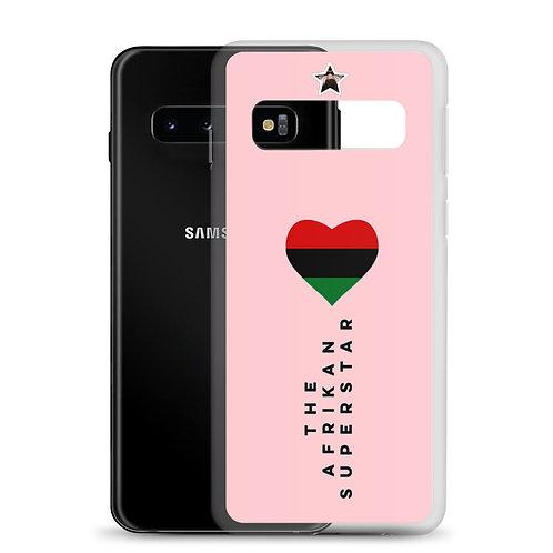 "Pink ""Pan African Love"" Samsung Case"