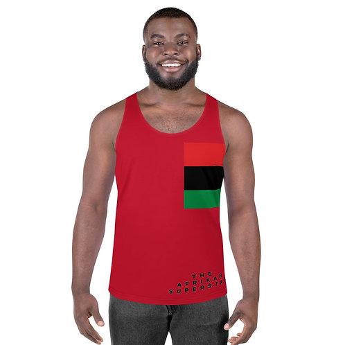 Men's Red Pan African Unisex Tank Top