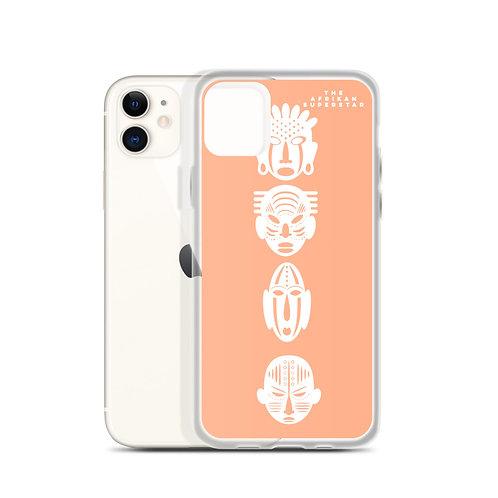 Designer Peach Quad Mask iPhone Case