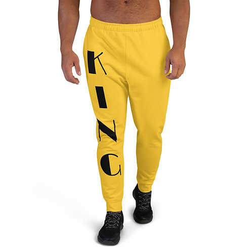 "Yellow ""King"" Men's Joggers"