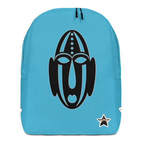 Blue Mask Minimalist Backpack