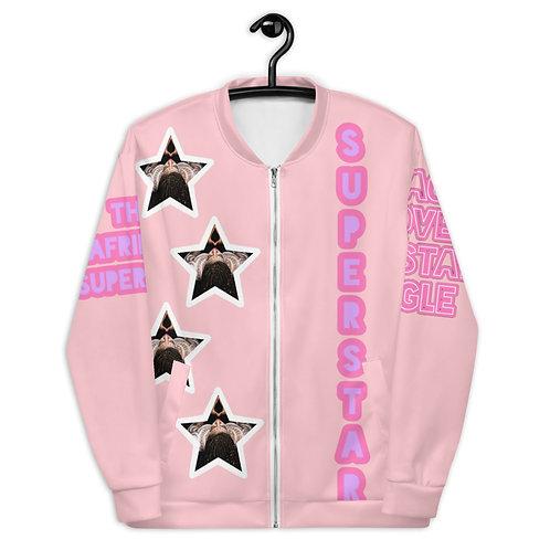 """Pink """"Superstar"""" Unisex Bomber Jacket"""