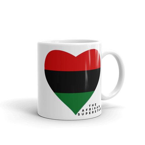 White Pan African Love Mug
