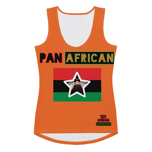 Orange Pan African Love Sublimation Cut & Sew Tank Top