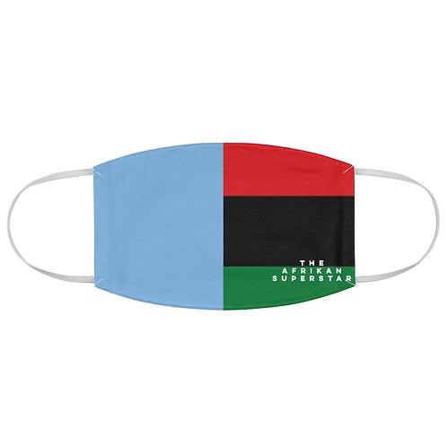 Light Blue Split Pan African Fabric Face Mask
