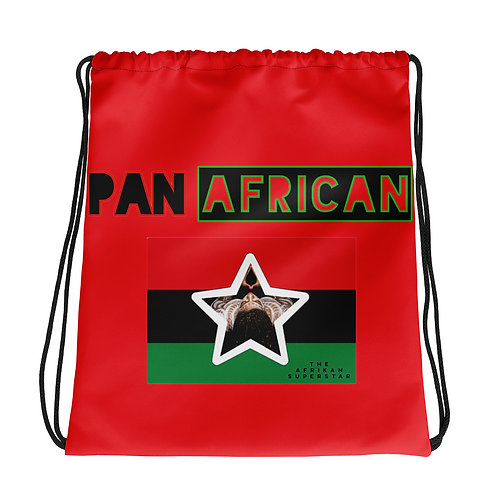 Red Proud Pan African Drawstring bag