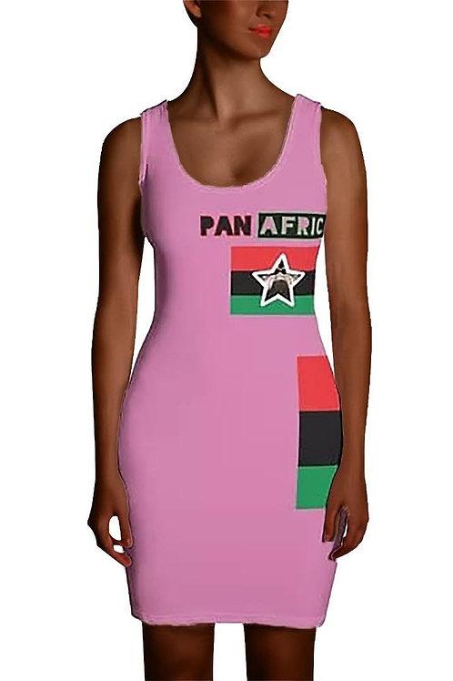 Light Pink Proud Pan African Sublimation Cut & Sew Dress