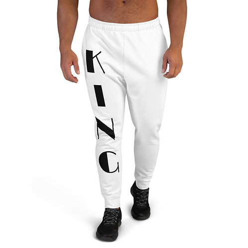 "White ""King"" Men's Joggers"