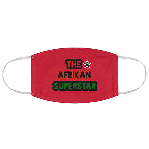 Red Afrikansuperstar Fabric Face Mask