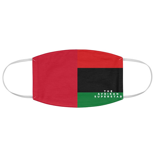 Red Split Pan African Fabric Face Mask